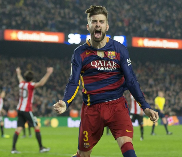 Copa del Rey, Piqué grita su gol