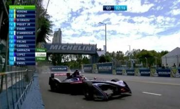 Fórmula E: accidentada clasificación para Pechito López en Puerto Madero