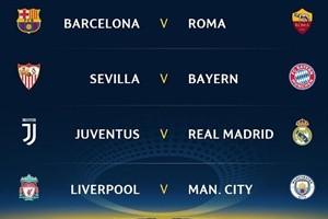 Champions League: Asì quedó el sorteo de los cuartos de final