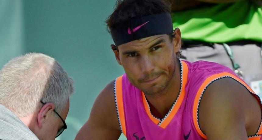 Rafael Nadal se bajó de Indian Wells por una lesión