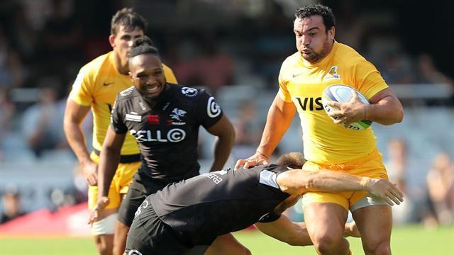 Los Jaguares perdieron 18 a 13 con Sharks en Durban