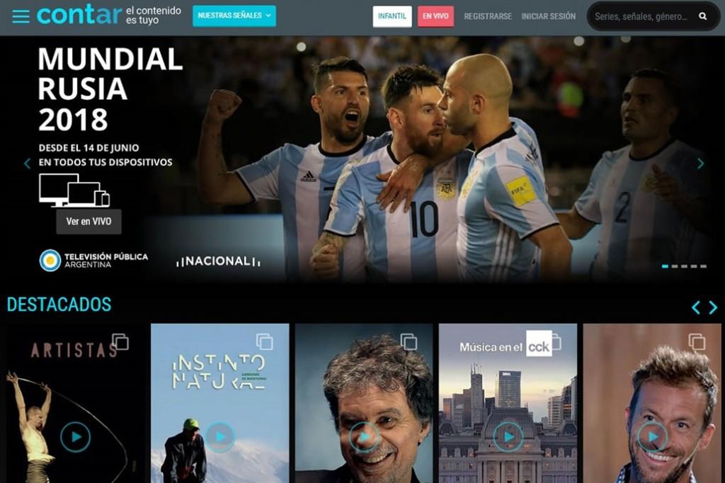 """El Gobierno lanzó Cont.ar, el """"Netflix"""" gratuito para ver el mundial"""