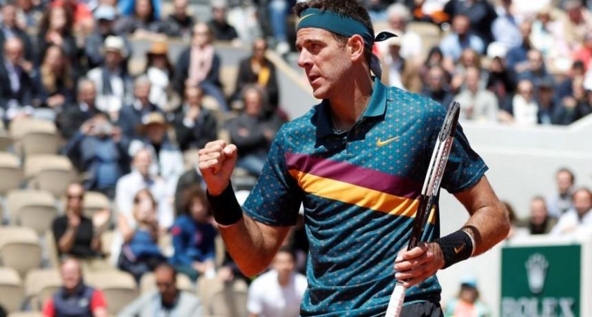 Del Potro y Delbonis ganaron en Roland Garros