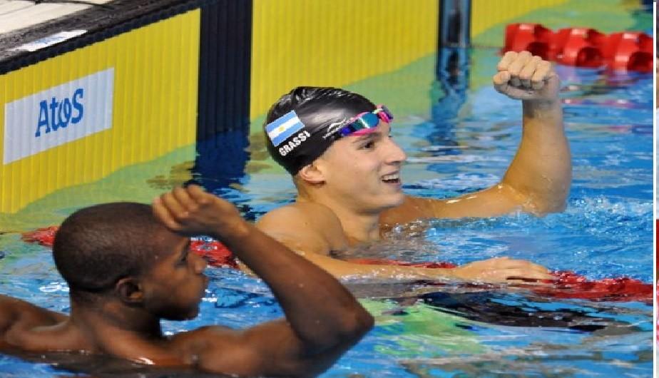 Grassi gano dos medallas de oro en Natación