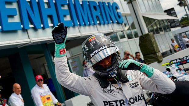 Nico Rosberg en Alemania se quedó con la pole position una vez más