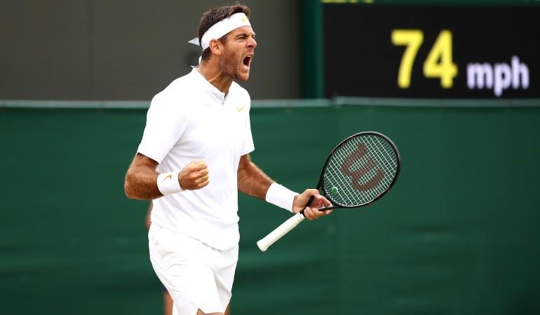 Delpo clasificó a cuartos de final en Wimbledon