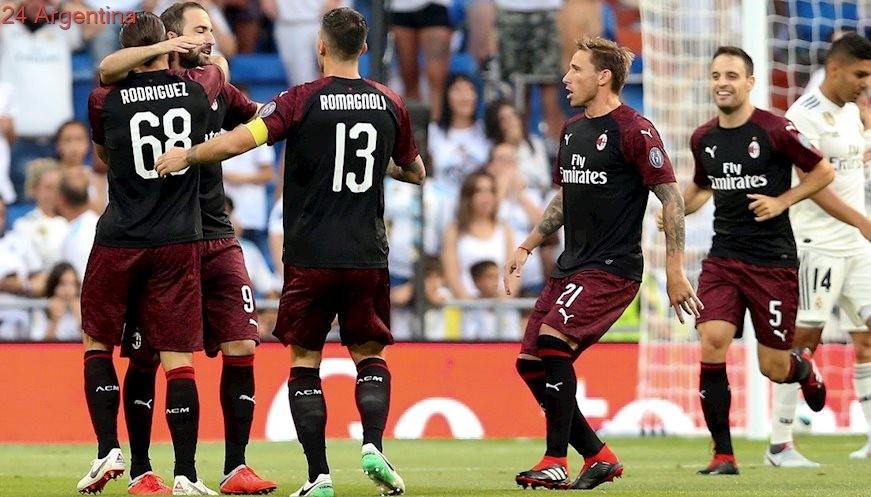 Higuaína a los 4 minutos hizo su primer gol en Milan