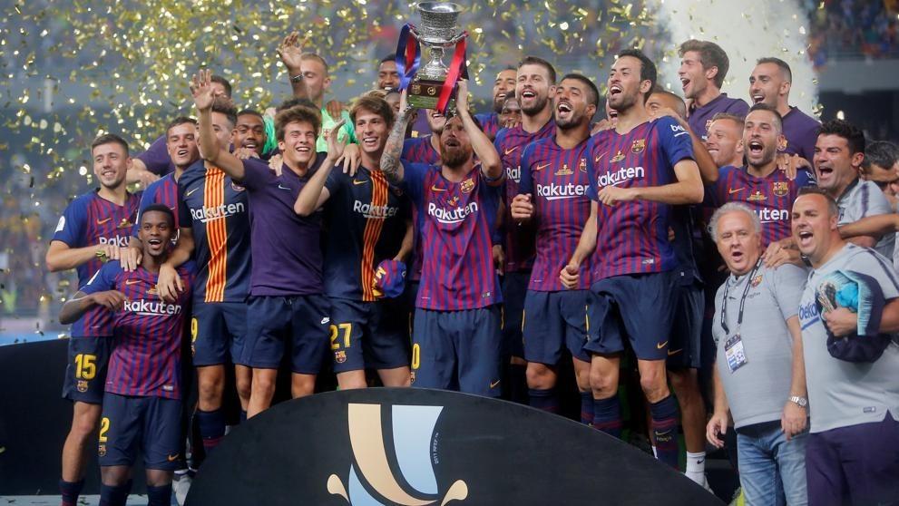 Un golazo de Dembelé le dio a Barcelona la Supercopa de España