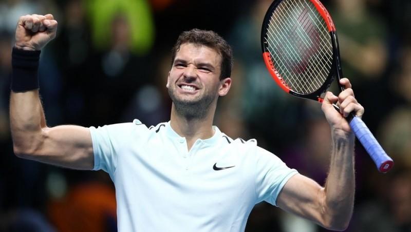 Masters de Londres: Grigor Dimitrov aplastó a David Goffin y es el segundo semifinalista