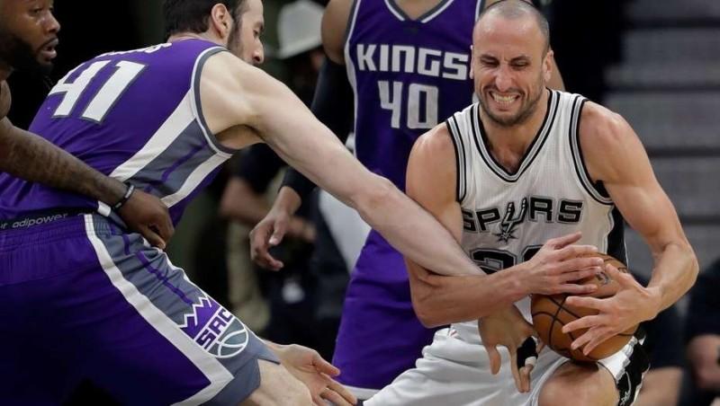 Para Ginóbili no pasan los años: 16 puntos en el triunfo de los Spurs sobre Atlanta