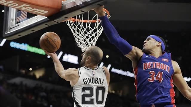 Manu Ginóbili la volvió a romper y marcó el mejor doble de toda la fecha de la NBA