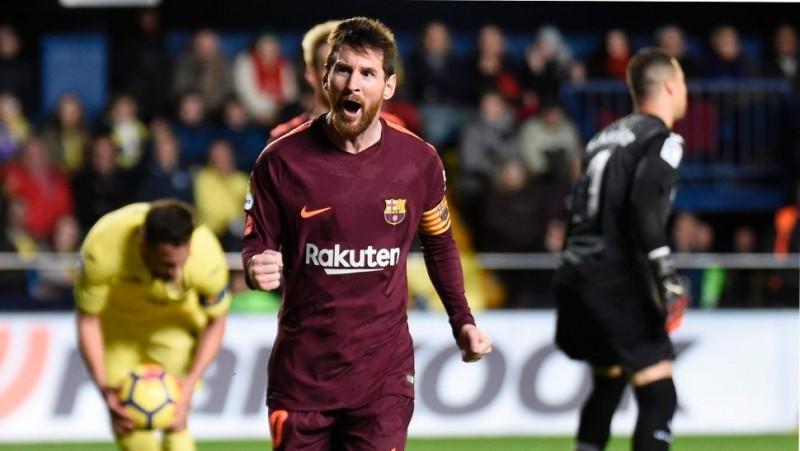 El rosarino anotó en la victoria del Barcelona por 2-0 ante el Villareal
