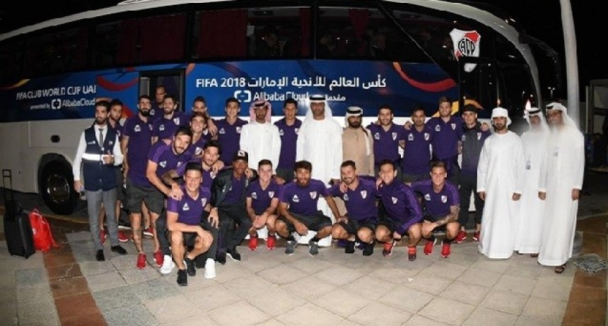 River llegó a Abu Dhabi para el Mundial de Clubes