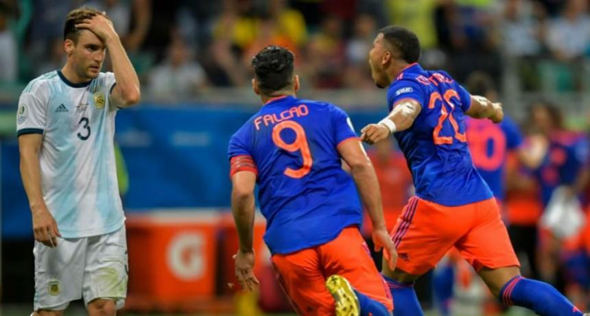 Argentina cayó ante Colombia por 2 a 0