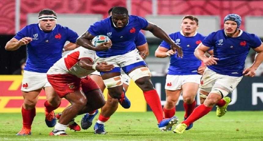 Francia derrotó a Tonga y elimino a Los Leones del Mundial