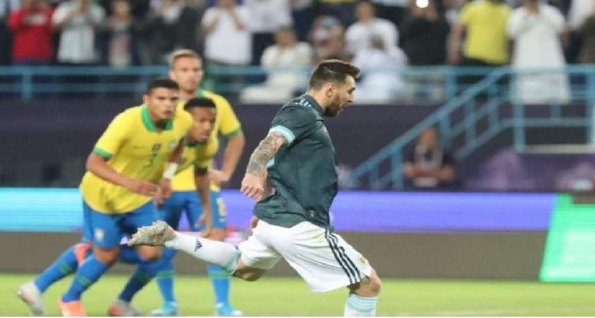Argentina con juego y garra venció a Brasil en Arabia Saudita